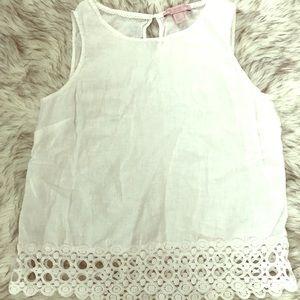 Linen/Lace Top